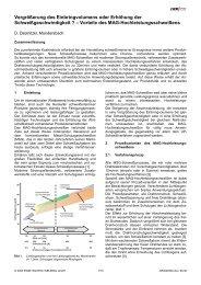 Vergrößerung des Einbringvolumens oder ... - SaxWeld GmbH