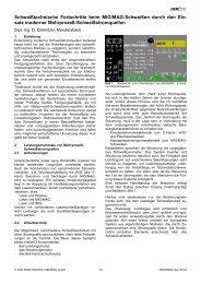 Schweißtechnische Fortschritte beim MIG/MAG ... - SaxWeld GmbH