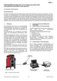 EWM Qualitätsmanagement mit dem Meßsystem ... - SaxWeld GmbH