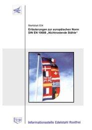 Erläuterungen zur europäischen Norm DIN EN 10088 ...