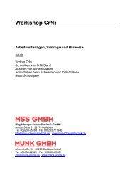 Tagungsband - MSS Magdeburger Schweißtechnik GmbH