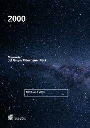 2000 Memoria del Grupo Münchener Rück - Munich Re