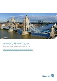 ANNUAL REPORT 2010 - Great Lakes Reinsurance ... - Munich Re