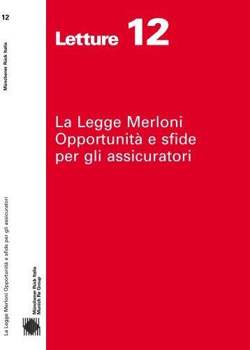 Letture 12 - La Legge Merloni Opportunità e sfide per ... - Munich Re