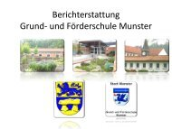 Bericht Konzeptentwicklung im Schulausschuss - Stadt Munster
