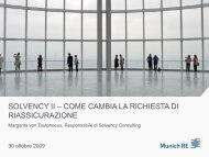 SOLVENCY II – COME CAMBIA LA RICHIESTA DI ... - Munich Re