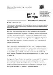 per la stampa - Munich Re