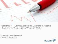 Solvency II – Ottimizzazione del Capitale di Rischio - Munich Re