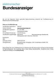 elektronischer Bundesanzeiger - Munich Re
