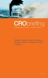 CRObriefing Emerging Risk Initiative - Position Paper - Munich Re