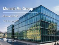 Presentation - Renewals 2004 - Munich Re