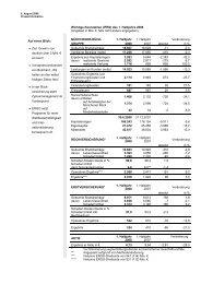 Wichtige Kennzahlen (IFRS) des 1. Halbjahrs 2008 - Munich Re