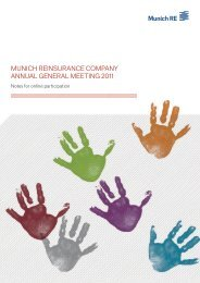 AGM 2011: Notes for online participation - Munich Re