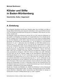 Klöster und Stifte in Baden-Württemberg - Michael-buhlmann.de