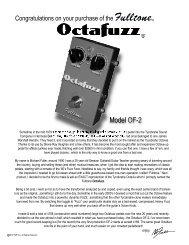 fulltone-octafuzz-user-manual - Musik Produktiv
