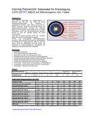 Corning FutureCom Datenkabel für Erdverlegung - mvk ...