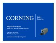 Corning S500 – Kupferlösungen - mvk Infrastrukturservice GmbH