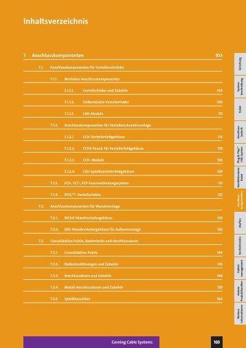 LWL – Glasfaser-Anschlusskomponenten (ca.3MB PDF