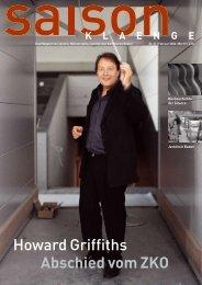 Howard Griffiths Abschied vom ZKO - Jecklin & Co. AG