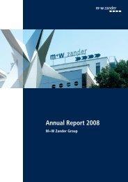 Annual Report M+W Zander Group 2008