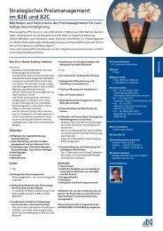 Strategisches Preismanagement im B2B und B2C - NÜRNBERGER ...