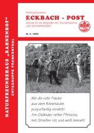 Eckbachpost Nr. 3 / 2009 - bei den NaturFreunden in Frankenthal
