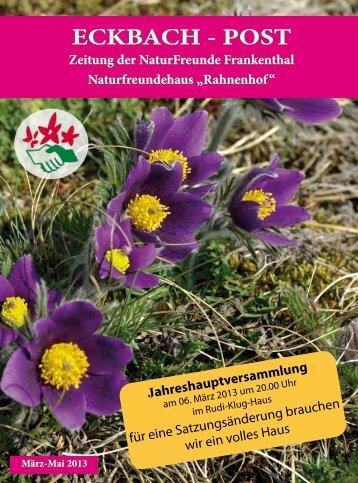 ECKBACH - POST - bei den NaturFreunden in Frankenthal