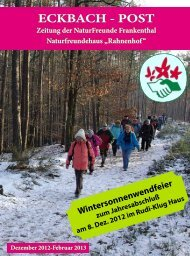 Eckbachpost Nr. 4 / 2012 - bei den NaturFreunden in Frankenthal