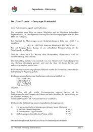 Jugendheim – Mietvertrag Die - bei den NaturFreunden in Frankenthal