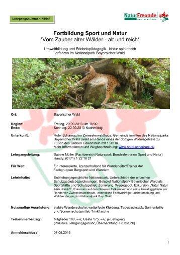 Download Ausschreibung - NaturFreunde Deutschlands