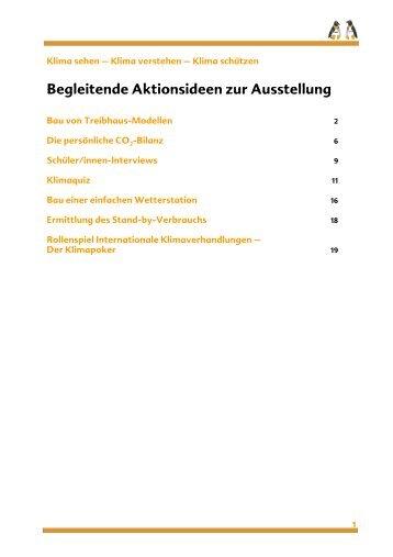 Begleitende Aktionsideen zur Ausstellung - NaturFreunde ...