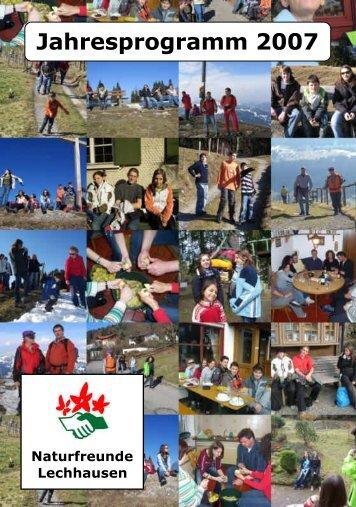 Jahresprogramm 2007 - Naturfreunde Lechhausen e.V.