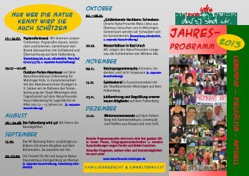 Programm 2013 - Naturfreunde Metzingen