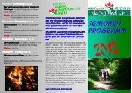 Programm Seniorengruppe 2013 - Naturfreunde Metzingen