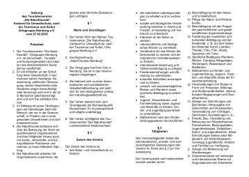 Satzung der NaturFreunde Nienburg e. V. (bitte hier