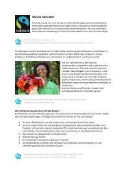 Was ist Fairtrade?