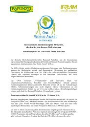 International recognition for those who make the world a better