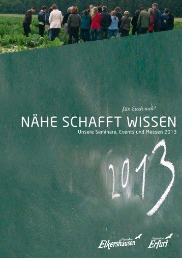 Seminare 2013 - Naturkost Erfurt