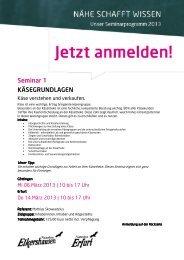 Seminar Käsegrundlagen - Naturkost Erfurt