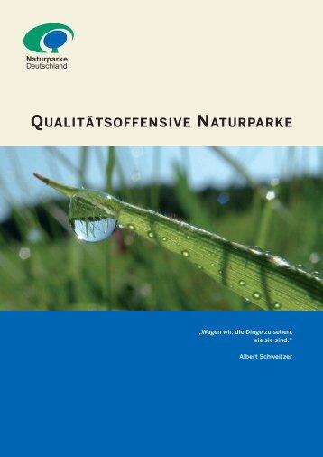 Kriterienkatalog Qualitätsoffensive Naturparke -  VDN