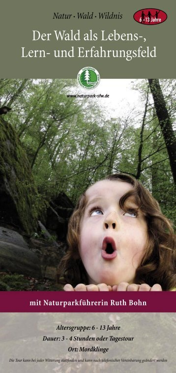 Der Wald als Lebens-, Lern- und Erfahrungsfeld