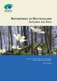 Naturparke in Deutschland - Aufgaben und Ziele - VDN