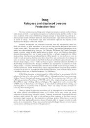Iraq Refugees and displaced persons Protection first - Navend