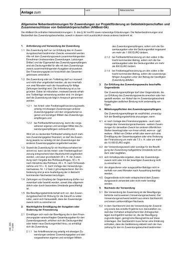 Nebenbestimmungen für Zuwendungen zur ... - bei der NBank