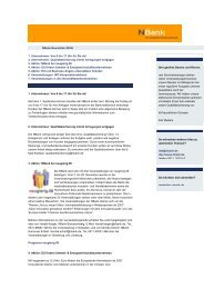 NBank Newsletter 2006/08 - bei der NBank