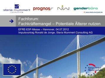 Vortrag Steria Mummert Consulting - Fachforum - bei der NBank