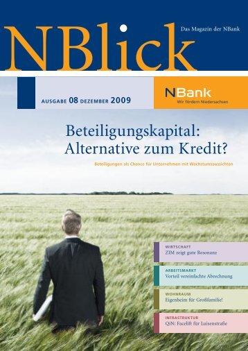 Beteiligungskapital: Alternative zum Kredit? - bei der NBank