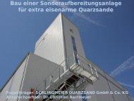 Vortrag Schlingenmeier Quarzsand GmbH - bei der NBank