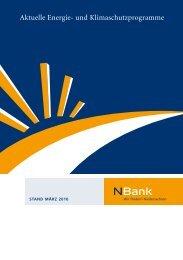 Aktuelle Energie- und Klimaschutzprogramme - bei  der NBank
