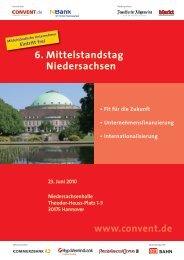 6. Mittelstandstag Niedersachsen